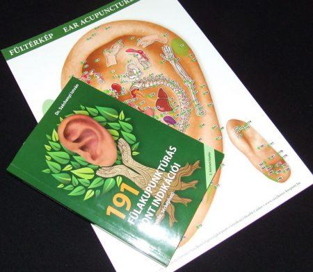 Fülakupunktúrás kézikönyv (2. kiadás) és Fülakupunktúrás Térkép (A4)